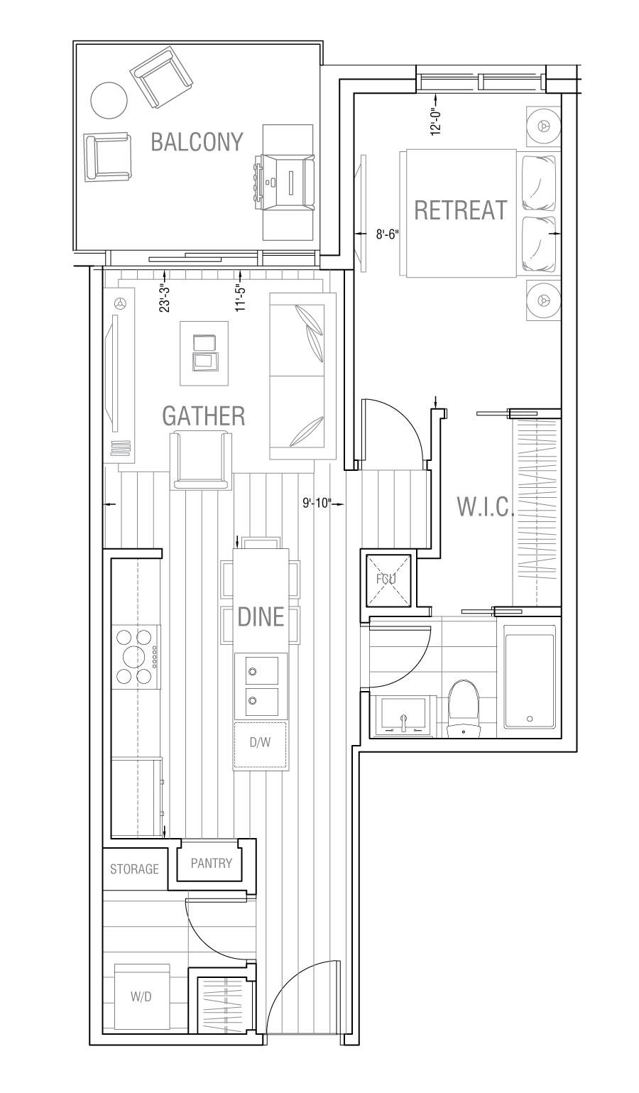 Gateway - Residence 1B
